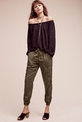 Anthropologie Garment Dyed Joggers Moss