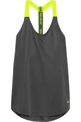 Nike Mesh Trimmed Stretch Jersey Tank Forest Green