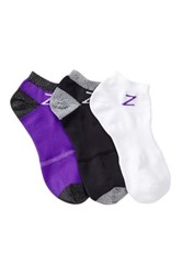 Z By Zella Nylon Sport Liner Socks Pack Of 3 Purple