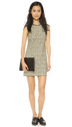 4.Collective Striped Sleeveless Shift Dress Black Multi