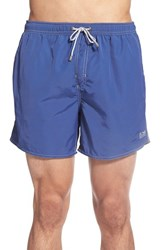 Men's Boss 'Lobster' Volley Swim Shorts Medium Blue