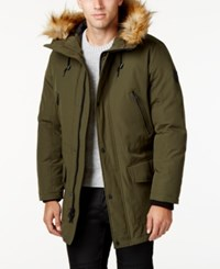 Guess Hooded Snorkel Coat Olive