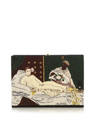 Olympia Le Tan By Edouard Manet Book Clutch Black Multi