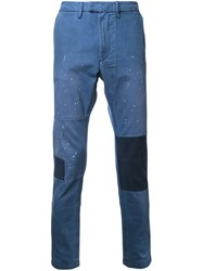 Diesel Patched Trousers Blue