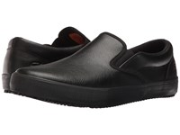 Skechers Alcade Black Leather Pu Men's Slip On Shoes
