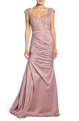 La Femme Women's Embellished Lace And Satin Mermaid Gown
