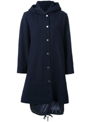 En Route Hooded Long Coat Blue