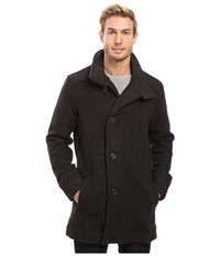 Prana Winter Peacoat Charcoal Heather Men's Coat Gray