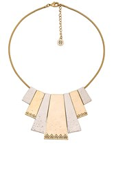 House Of Harlow Scutum Statement Necklace Metallic Gold