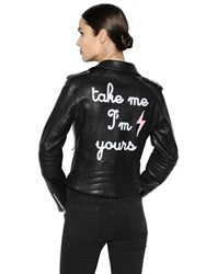 The Lovers Club Take Me I'm Yours Leather Biker Jacket
