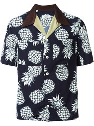Valentino Pineapple Print Shirt Blue