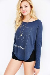 Truly Madly Deeply Meet The Sky Long Sleeve Tee Black