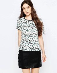 Sugarhill Boutique Evie Leopard Spot Tee Cream