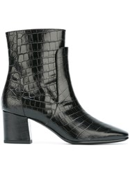 Givenchy Embossed Crocodile Effect Boots Black