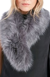 Sole Society Women's Faux Fur Stole Grey