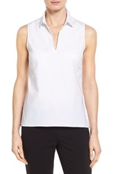 Women's Ellen Tracy Peplum Back Sleeveless Keyhole Shirt