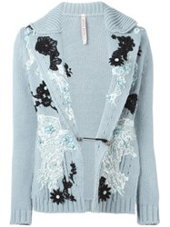 Antonio Marras Embroidered Cardigan Blue