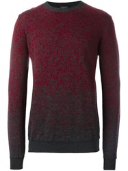 Roberto Collina Flocked Crew Neck Sweater Red