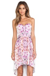 Ladakh Floral Mirage Dress Fuchsia