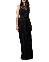 Phase Eight Abby Bead Embellished Gown Black