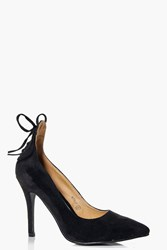 Boohoo Lace Back Pointed Court Black