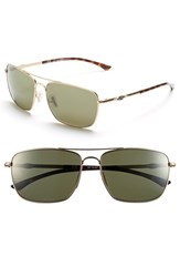 Women's Smith Optics 'Nomad' 59Mm Polarized Sunglasses Matte Gold Polar Gray Green