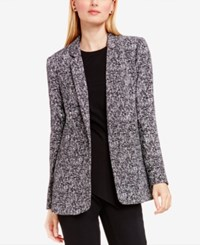 Vince Camuto Tweed Boyfriend Blazer Rich Black