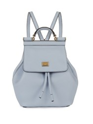 Dolce And Gabbana Sicily Micro Leather Backpack Light Blue