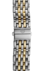 Michele 'Deco' 16Mm Two Tone Bracelet Watch Band Silver Gold