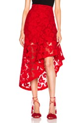 Nicholas Frill Panel Skirt In Red