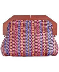Inc International Concepts Miinie Wood Clutch Only At Macy's Pink Multi