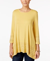 Jm Collection Embellished Tunic Top Only At Macy's Roman Gold