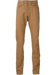 Naked And Famous Naked And Famous Straight Leg Jeans Brown