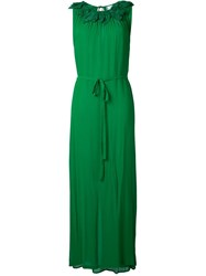 Megan Park 'Florina' Corsage Maxi Dress Green