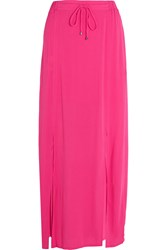 Splendid Crinkled Gauze Maxi Skirt Bright Pink