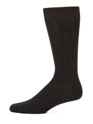 Saks Fifth Avenue Stretch Wool Dress Socks Camel Navy Black Charcoal
