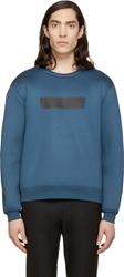 Kris Van Assche Ssense Exclusive Blue Painted Stripe Sweatshirt