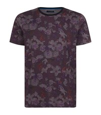 Ted Baker Floral Printed T Shirt Male Purple