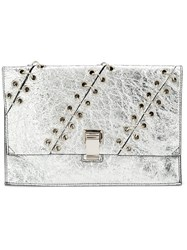 Proenza Schouler Small 'Lunch' Clutch Bag Metallic