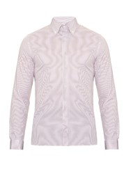Mathieu Jerome Button Cuff Button Down Collar Cotton Shirt White Multi