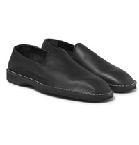 Maison Martin Margiela Leather Espadrilles Black