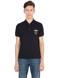 Gucci Crest Patch Stretch Cotton Pique Polo