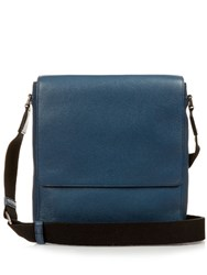 Mulberry Maxwell Grained Leather Messenger Bag Blue