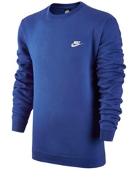 Nike Men's Crewneck Fleece Sweatshirt Game Royal