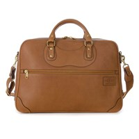 J Panther Luggage Tan Leather Courier Ruc Case Brown