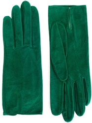 Christian Dior Vintage Classic Gloves Green