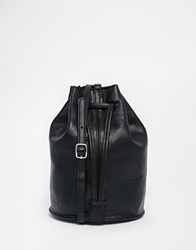 Monki Cornelia Drawstring Duffle Cross Body Bag Black