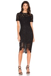 Lover Oasis Fitted Mini Dress Black