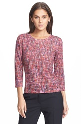Escada Tweed Print Wool Sweater