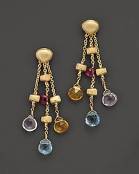 Marco Bicego Paradise Collection 18 Kt. Yellow Gold Triple Strand Earrings No Color